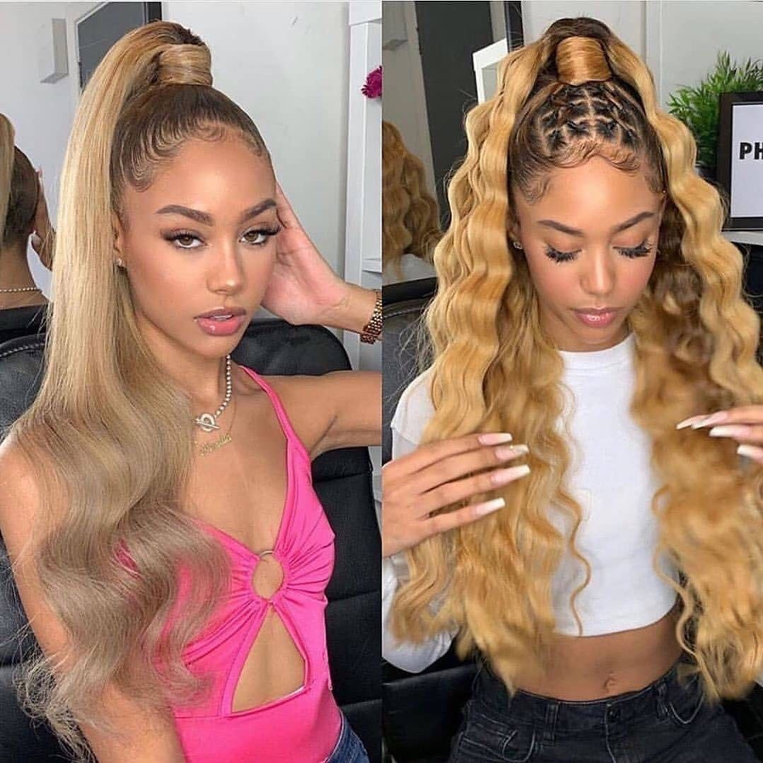 Cool long blond hair