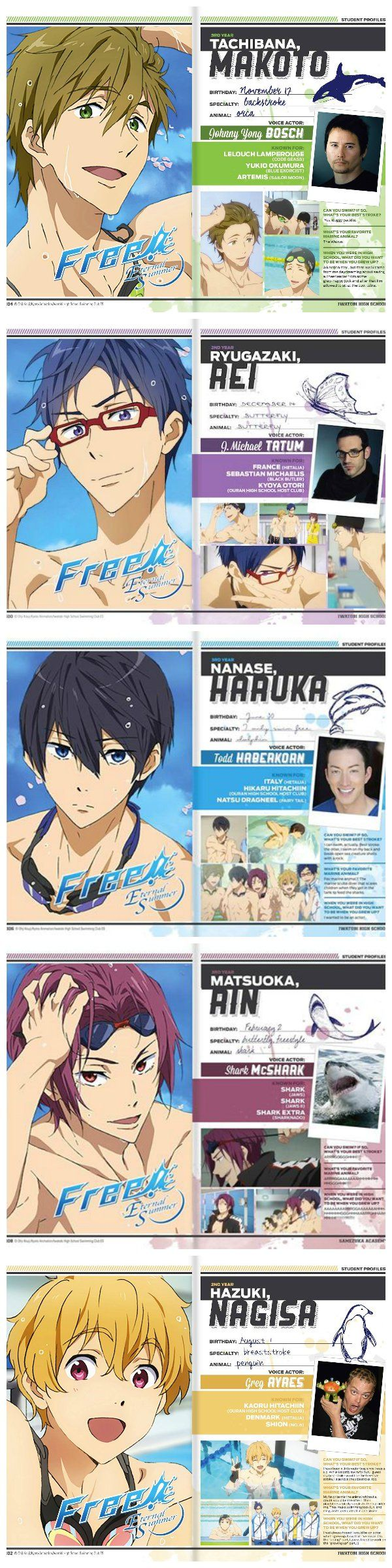 This is the free english dubbed cast im so excited and the voice actor for rin is supposed to be vic mignogna