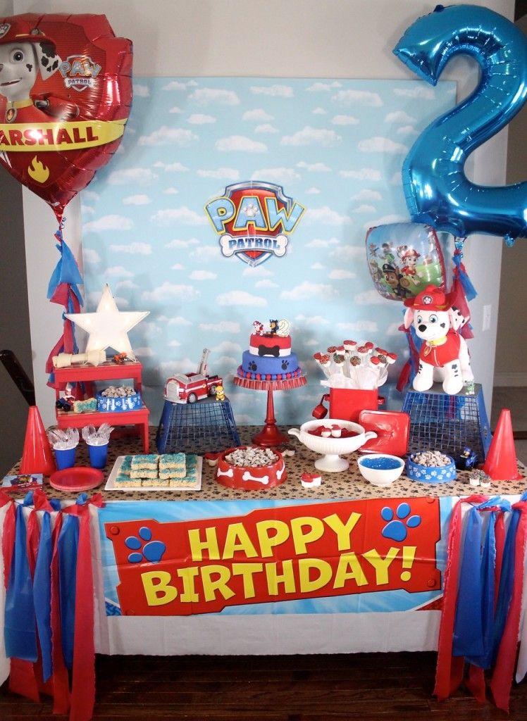 Paw patrol birthday party paw patrol birthday paw for 2nd birthday party decoration ideas