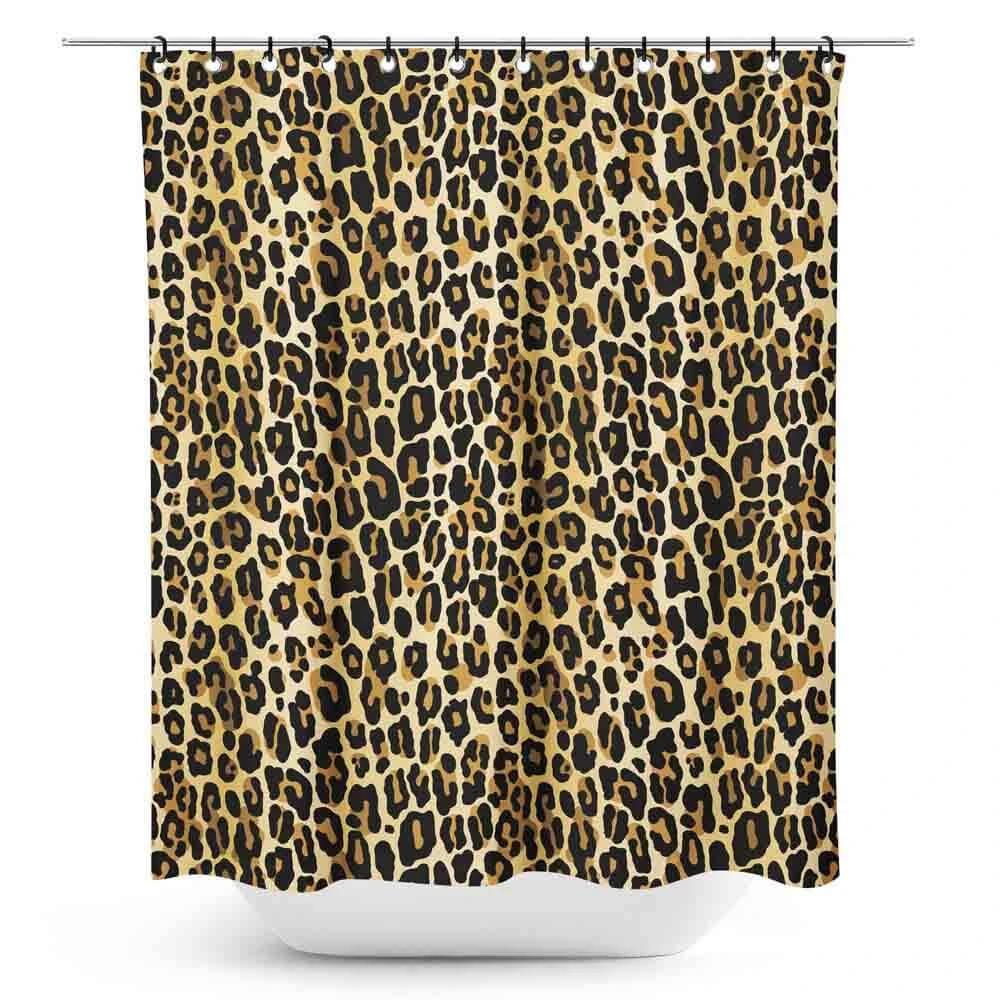 Sourpuss Leopard Retro Shower Curtain In 2020 Retro Shower