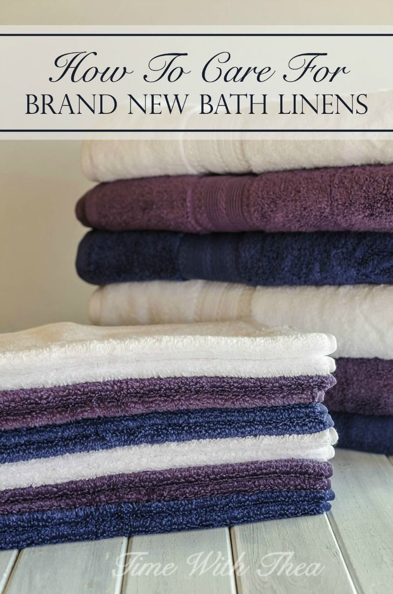 How To Care For Brand New Bath Linens Bath linens, Room