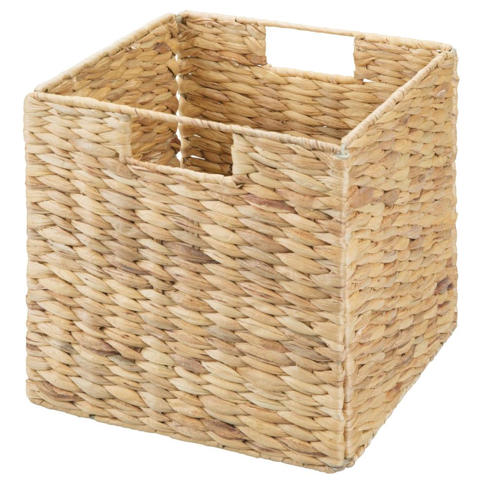 Idesign Hyacinth Folding Cube 10 50 X 10 50 X 10 50 Natural Walmart Com In 2020 Cube Storage Storage Closet Organization Bins