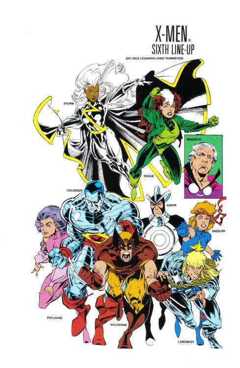 The X-Men by Rick Leonardi | Comics, Comic art, Superhero comic