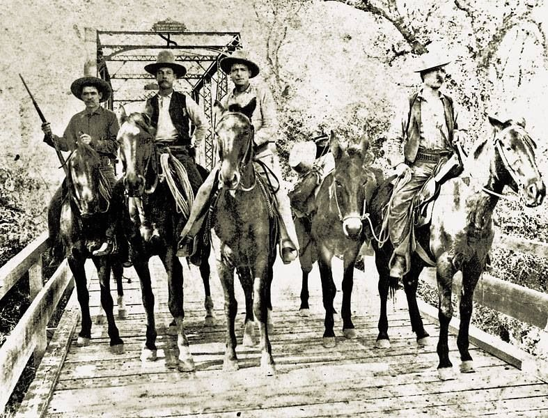 1892 - four unidentified Texas Rangers of Capt. Brooks ...