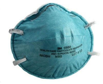 3m particulate respirator/surgical mask n95 cup earloops small blue