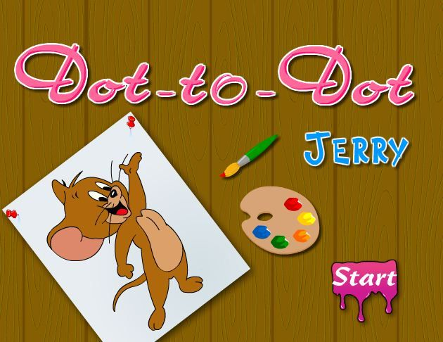 Dot To Dot Jerry Game Game Online Tom And Jerry Games Online