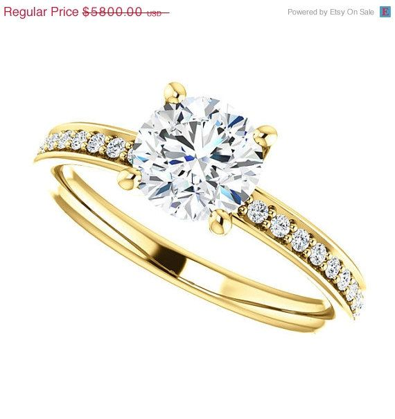 BGd On SALE Gorgeous 1.25ct Genuine Diamond by BrianGdesigns, $4640.00
