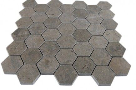 Lagos Grey Hexagon Marble Mosaics Main 12 25 Close Out