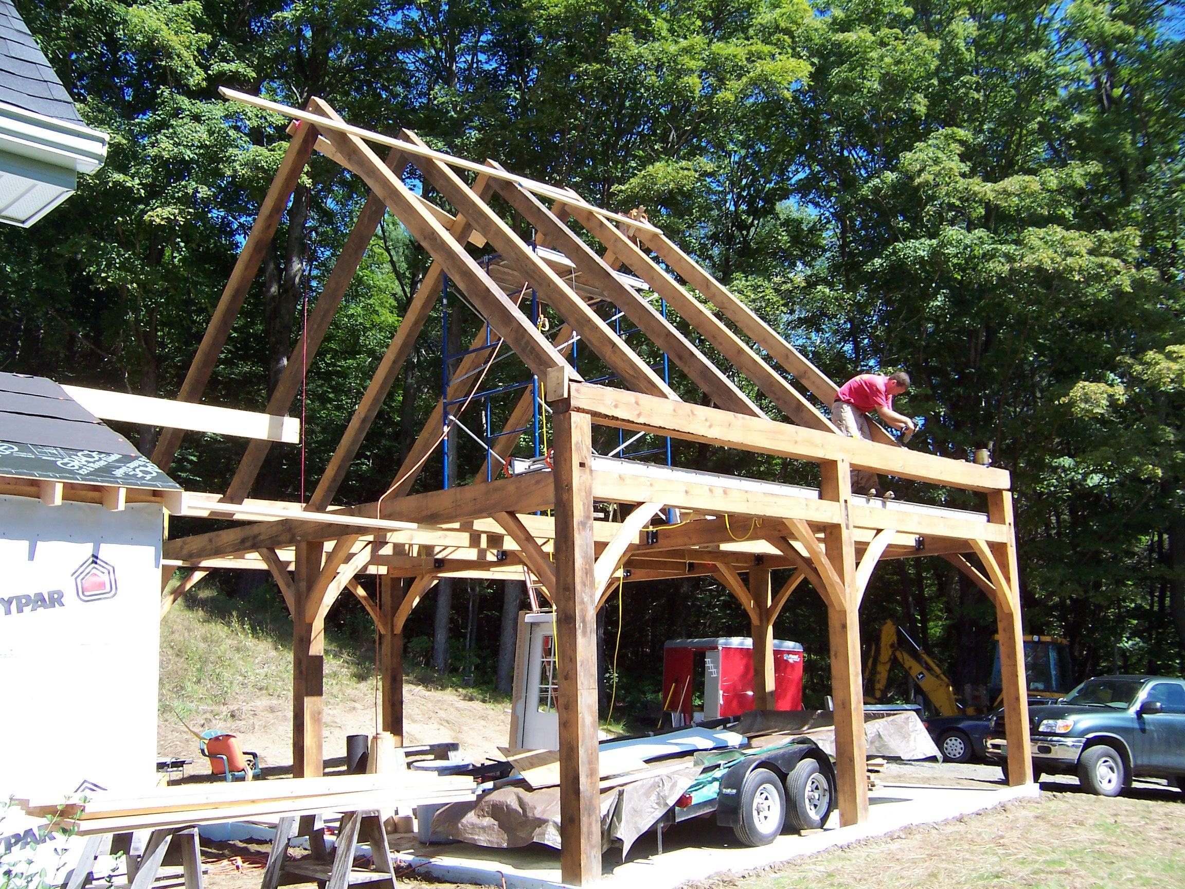 24x24 Post And Beam Garage Frame