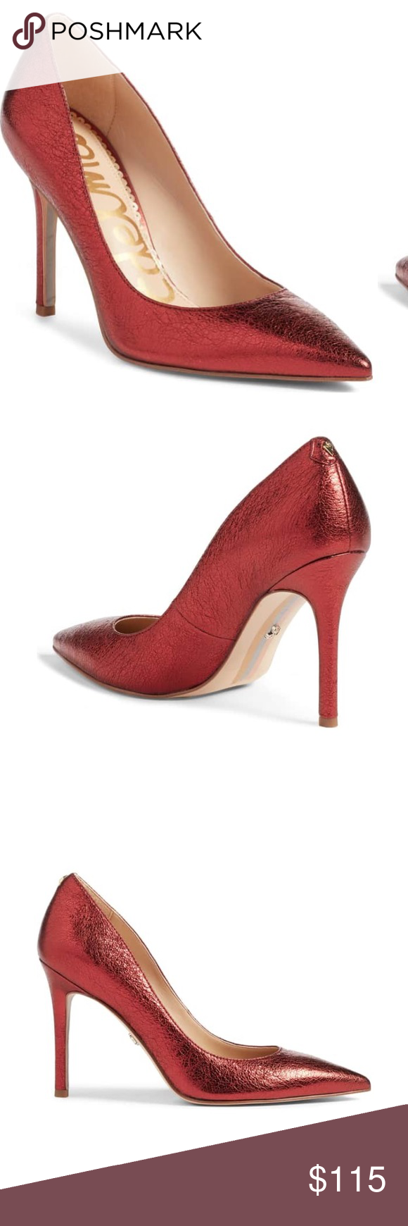 2feaeb3281e9 Elegant · Legs · Sole · Classic · Sam Edelman Metallic Rust Hazel Pointy  Toe Pump Sam Edelman metallic rust pointy toe pump Like