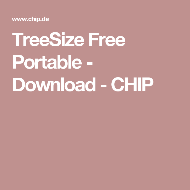 TreeSize Free Portable - Download - CHIP