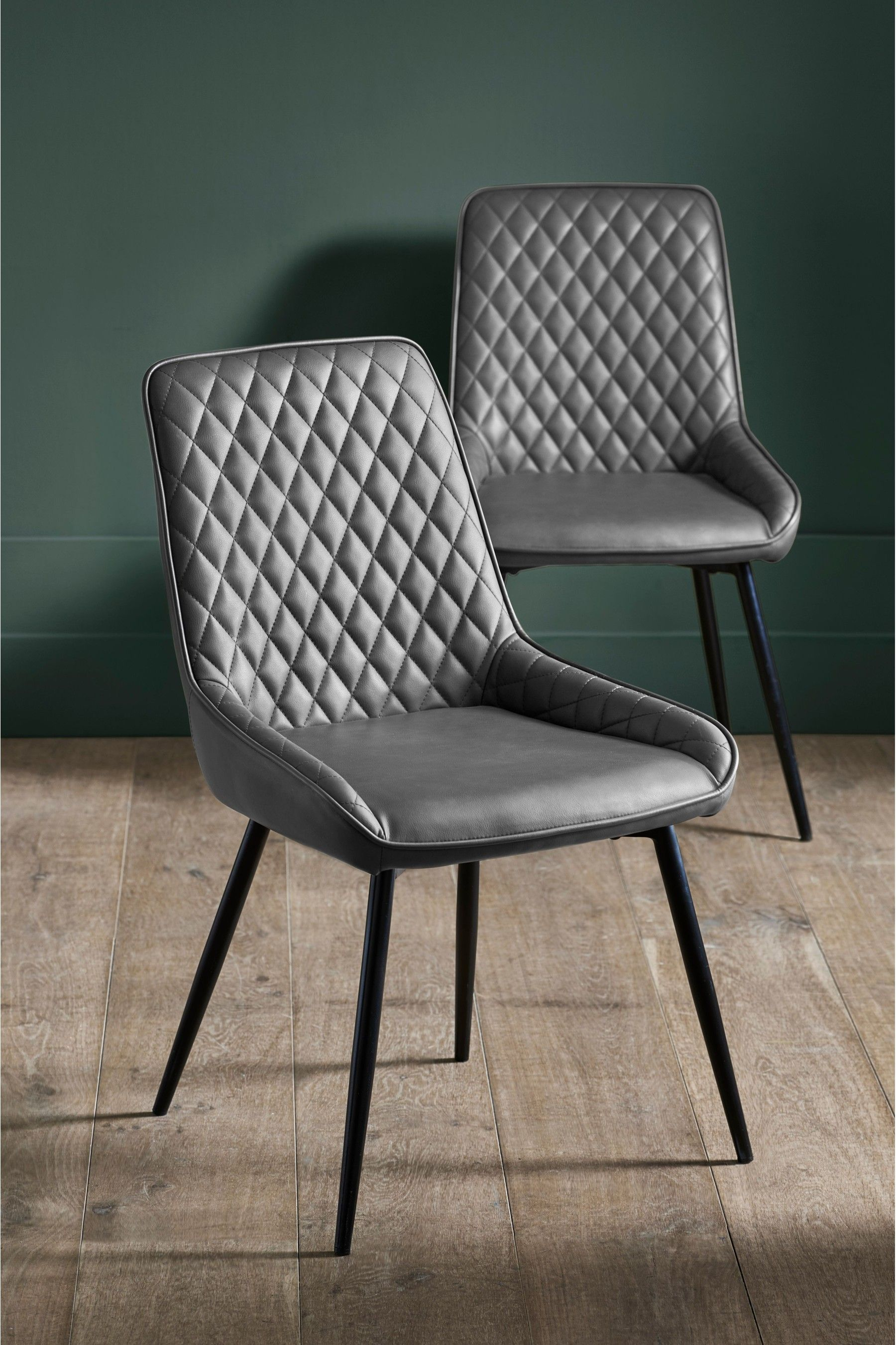 Next Set Of 2 Hamilton Dining Chairs Grey Dining Chairs