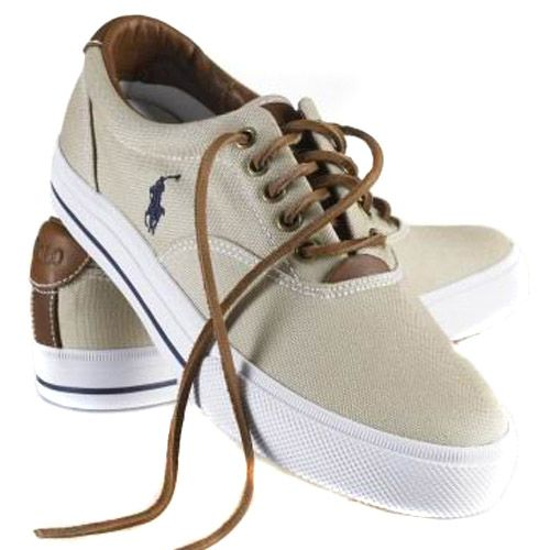 88e8d530a634f Polo Ralph Lauren Mens Vaughn Canvas Sneaker beige
