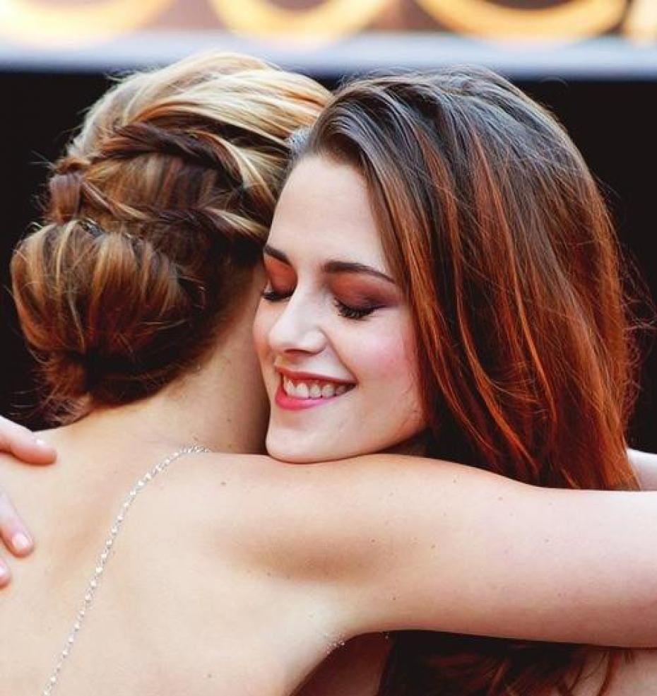 Jennifer Lawrence avec Kristen Stewart