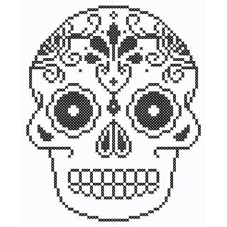 Mimi's Folly: Cross Stitch Skull