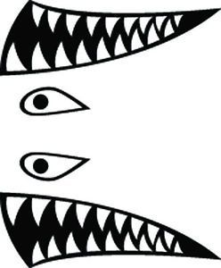 Shark Mask Craft Rc Airbrush Stencils Paint Masks Flying
