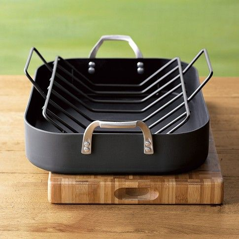 Calphalon Unison Sear Nonstick Roaster With Rack Williams Sonoma I Want This Products