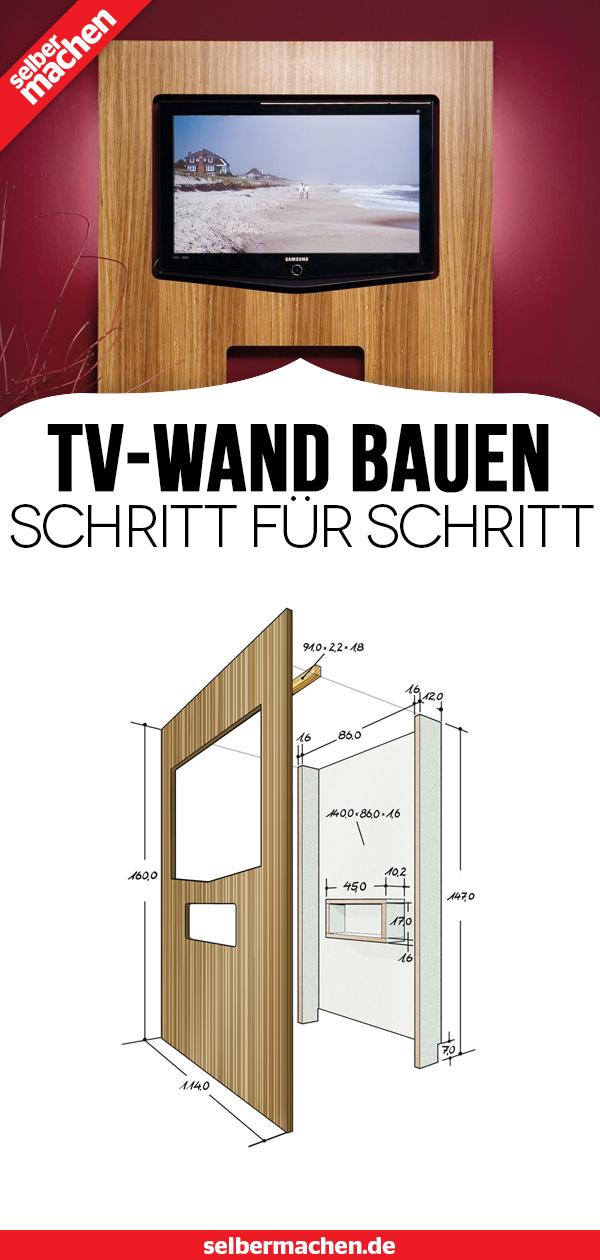Tv Wand Selber Bauen Ganz Einfach Mit Bauanleitung Tv Wand Selber Bauen Tv Wand Bauen Tv Wand