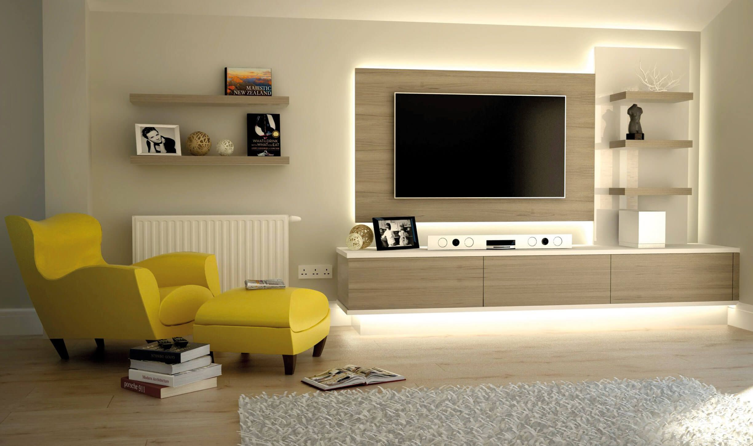 10+ Amazing Wall Cabinet Design Living Room