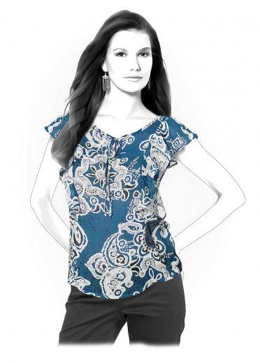 Bluse - Schnittmuster #4261 | Lekala patterns | Pinterest | Bluse ...