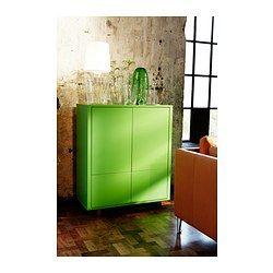 Ideal IKEA STOCKHOLM Schrank mit Schubladen gr n Ob Ordner Teller