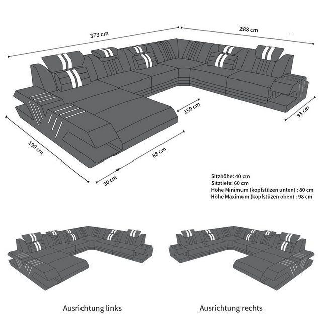 Sofa Dreams Living Area Venice U Shape Xxl Otto Area Dreams Living Otto Shape Sofa Venice Xxl In 2020 Home Pictures Luxury Sofa Living Room Accents