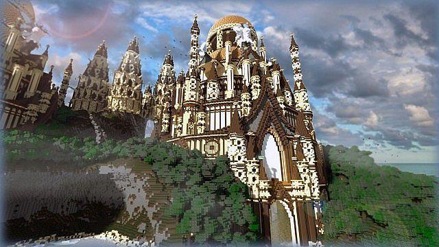 Tropical Sandstone Castle | Minecraft Building Inc | minecraft ...