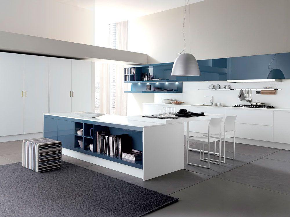 cucina modello city by febal casa. le laccature lucide ... - Cucina Febal Light La Qualita Accessibile