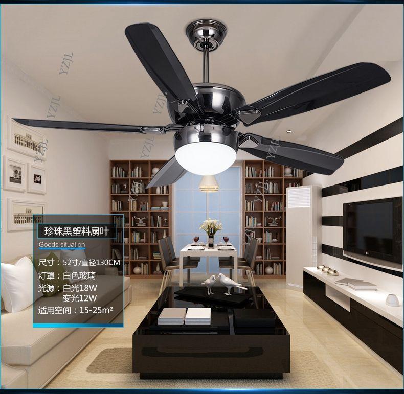 Dc Inverter Led Fan Light Ceiling Fans Minimalism Modern Dining