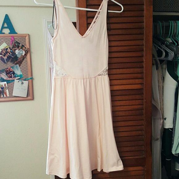 Light pink sun dress Light pink, thin straps, lace back Divided Dresses Mini