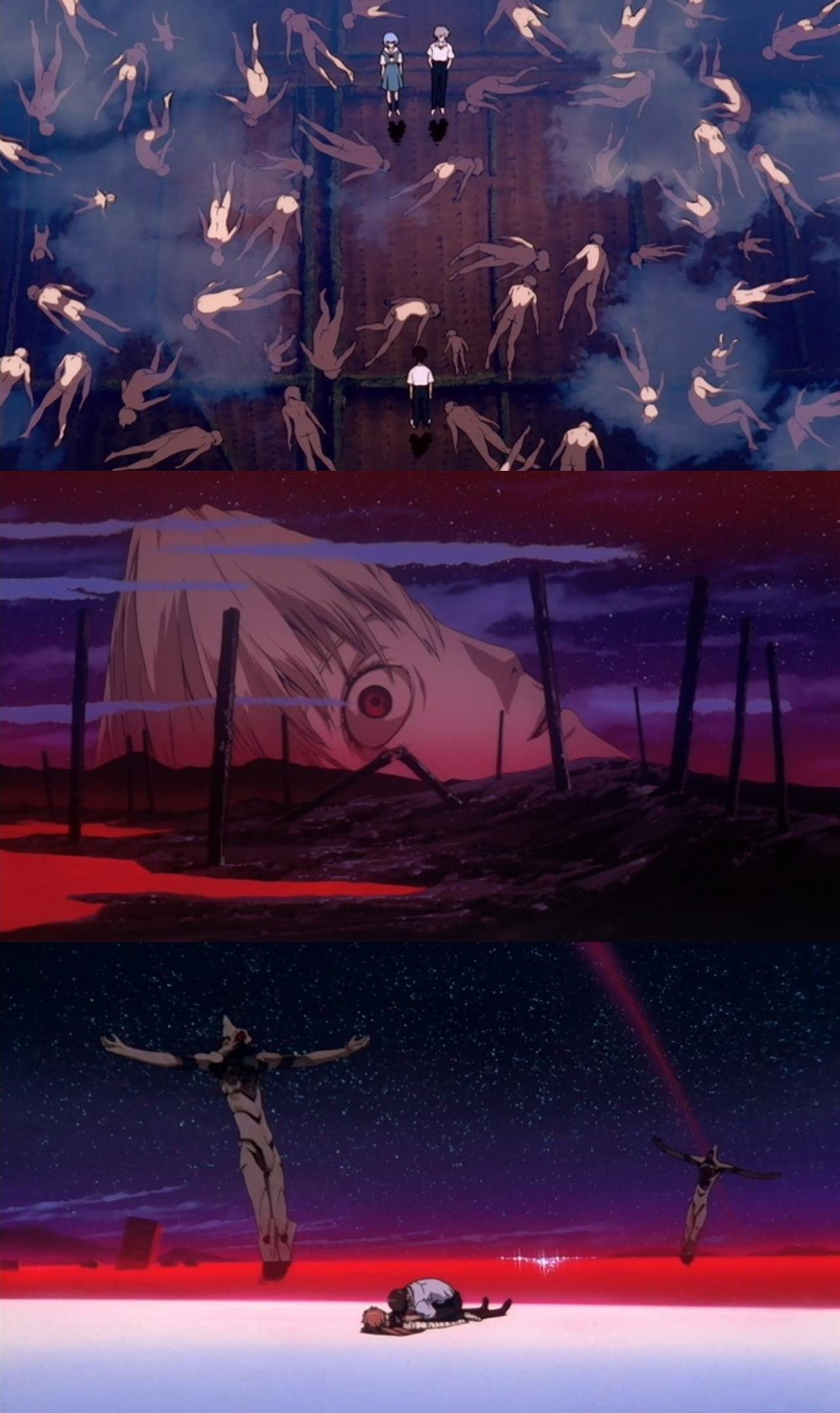Neon Genesis Evangelion Una Joya Del Anime Ni El Poco Presupuesto En Los Capitulos Finales Puede Manc Neon Evangelion Evangelion Art Neon Genesis Evangelion