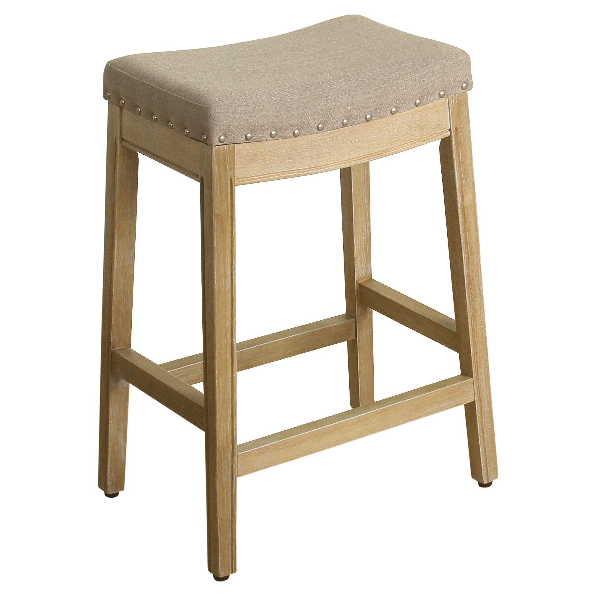 Marvelous Blake 24 Backless Counter Stool With Nailheads Putty Lamtechconsult Wood Chair Design Ideas Lamtechconsultcom