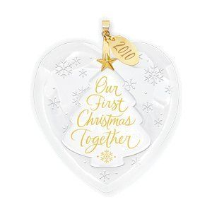 "$6.49-$14.95 Every holiday season, this ornament will have you reminiscing about your very first Christmas together.Glass. By Edythe Kegrize. 3"" H."