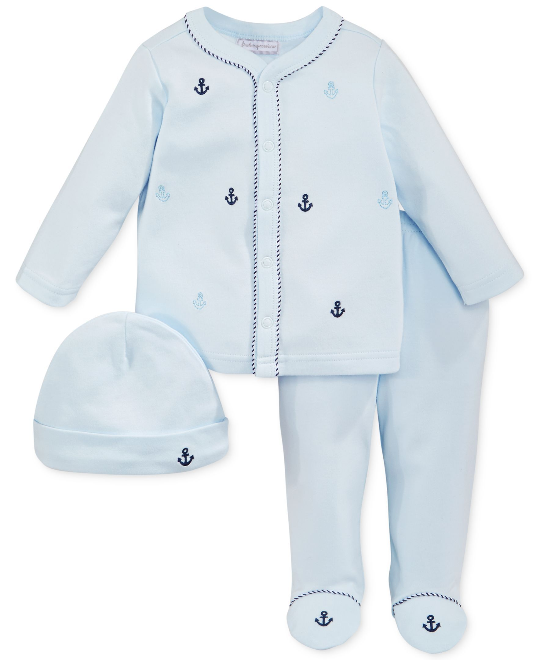 First Impressions Baby Boys 3 Piece Anchor Set