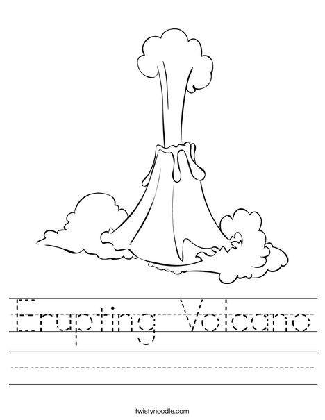 Erupting Volcano Worksheet Twisty Noodle volcano day
