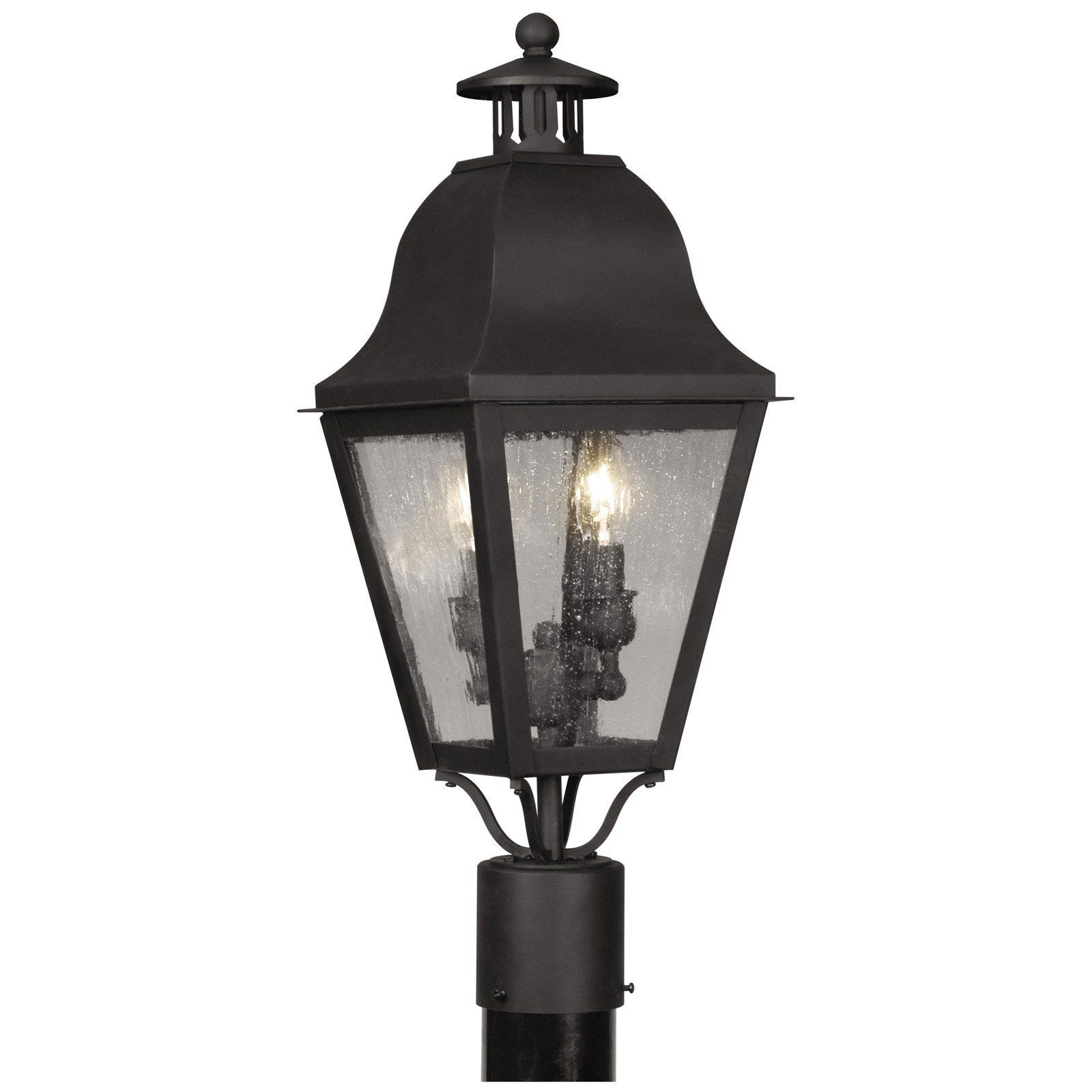 Livex Amwell 2552-04 Outdoor Post Lantern - 23H in. Black - 2552-04