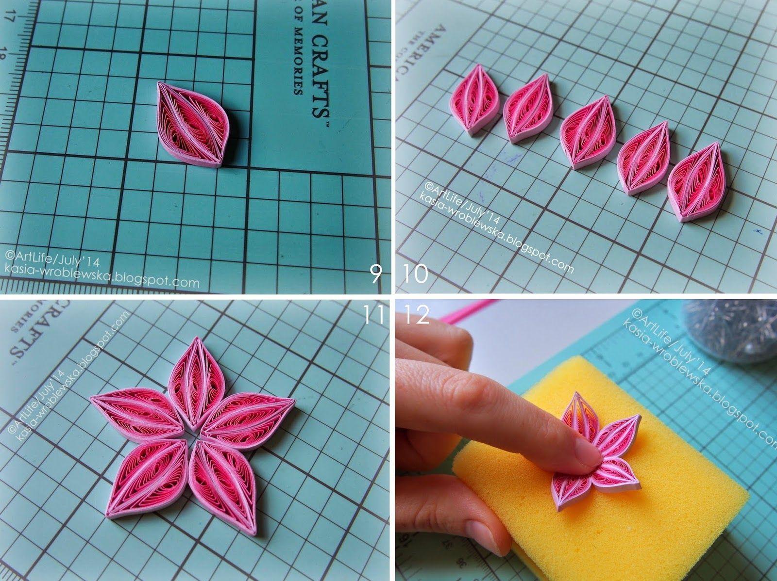 Artlife Clematis Flower Tutorial Master Klass Klematis Paper Quilling Patterns Quilling Designs Quilling Flowers Tutorial