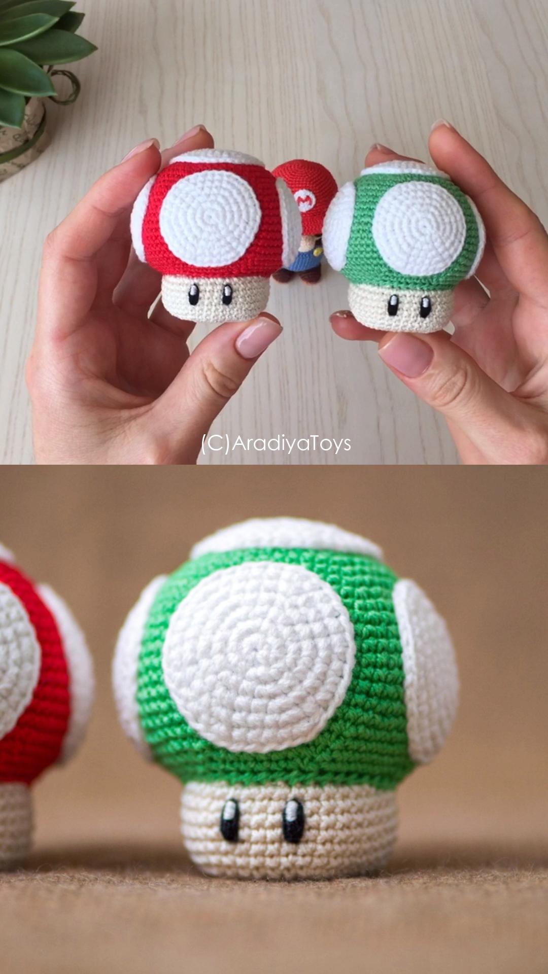 Photo of Häkeln Sie Super Mario Bros Pilze
