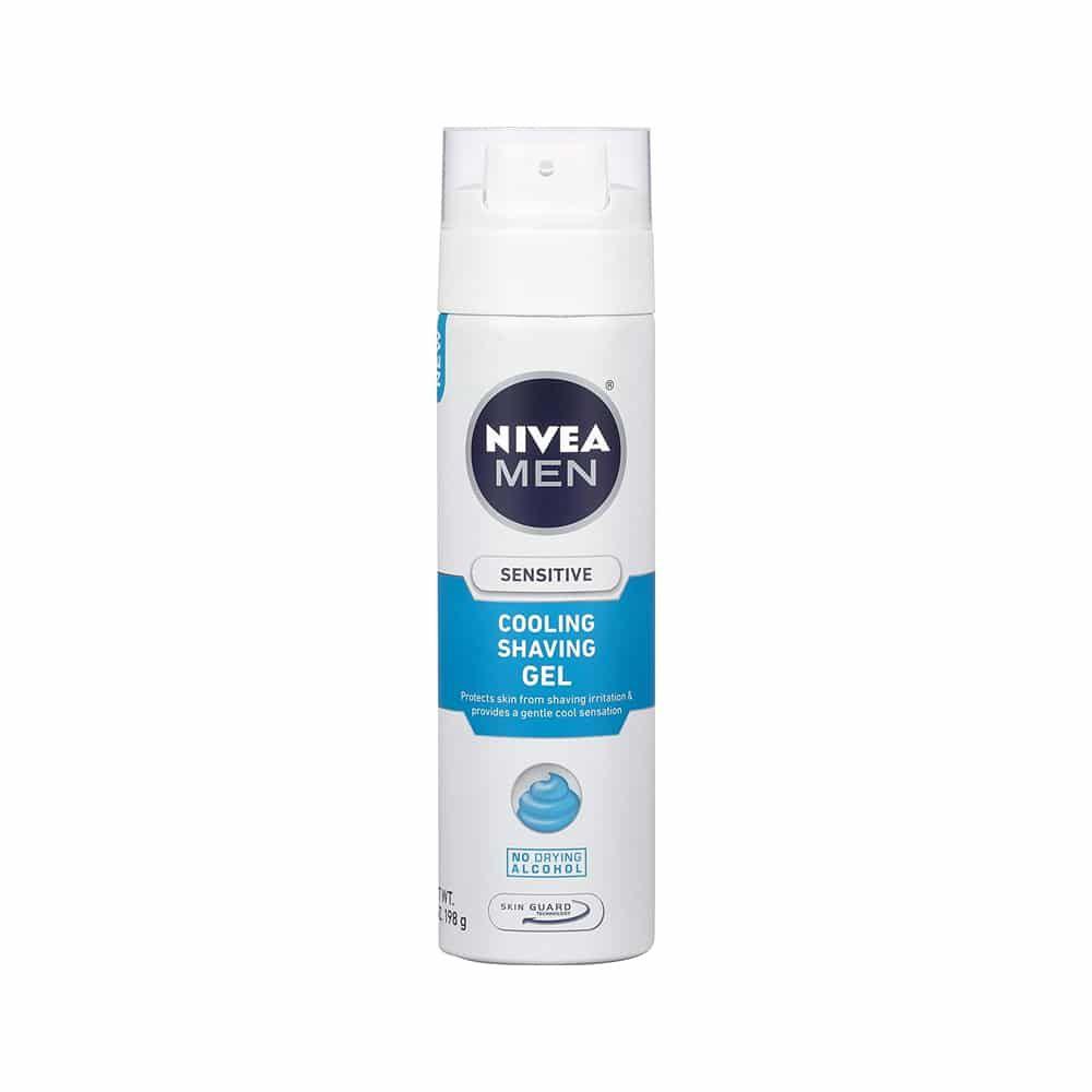 Nivea Men Sensitive Cooling Shaving Gel جل الحلاقة المنعش للبشرة الحساسة نيفيا 200ml Gel Shaving Nivea