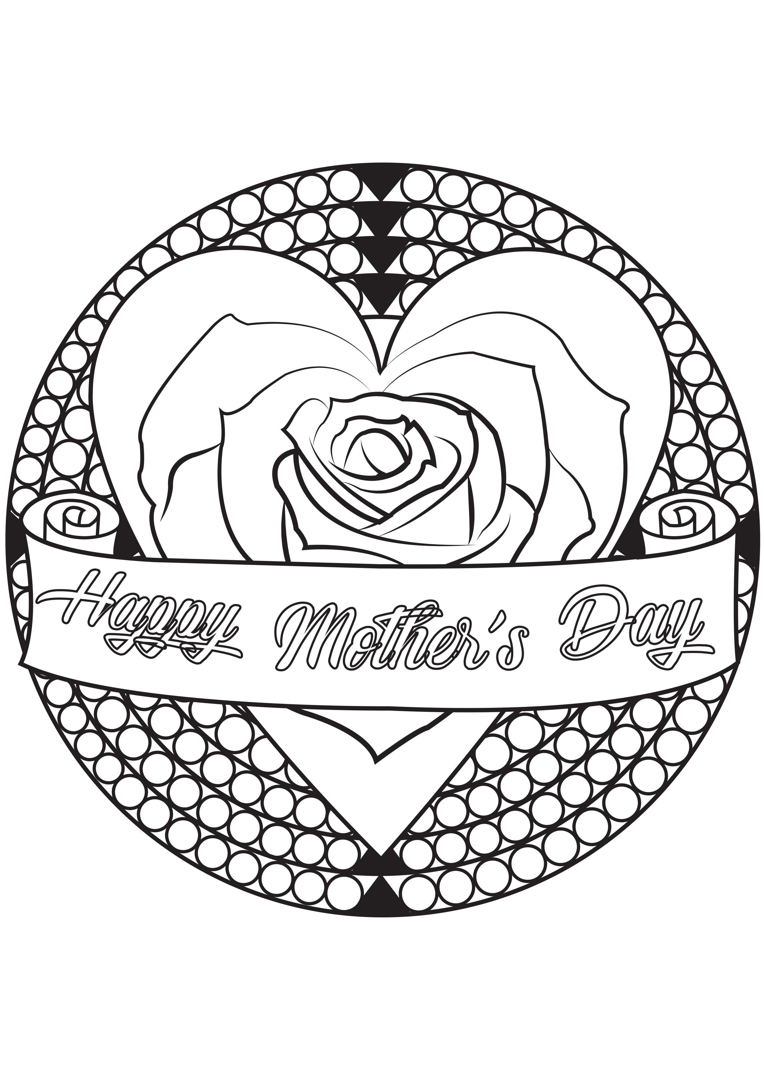 Coloring Page Special Mother S Day