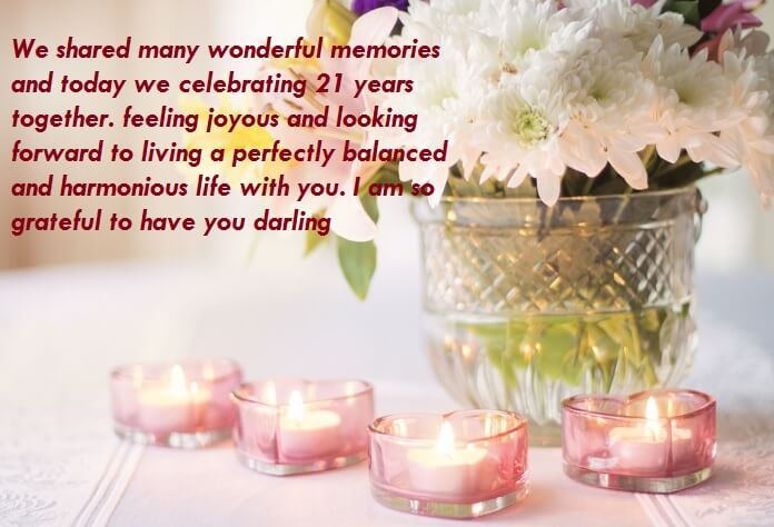 Hy 21st Wedding Anniversary Wishes For Wife