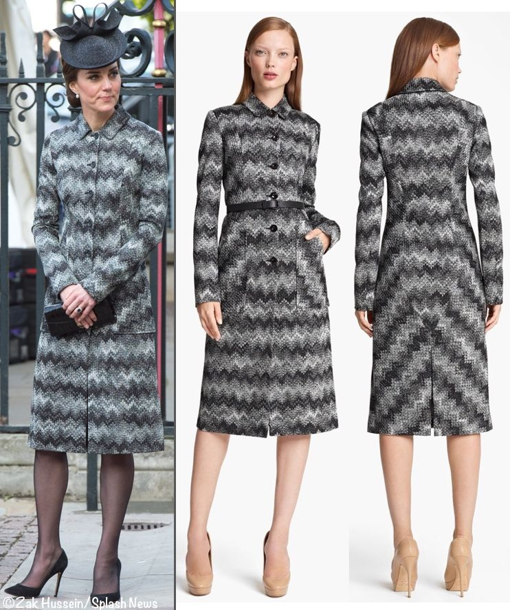 ae6e60068053c5 Kate was in the Missoni Long Snake Stitch Coat