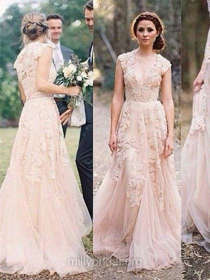 Pearl Pink Wedding Dress Weddings Weddingdress Millybridal