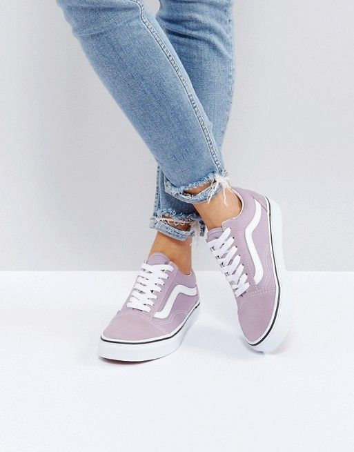 Zapatos lila Vans Old Skool para mujer FUbYOj67HN