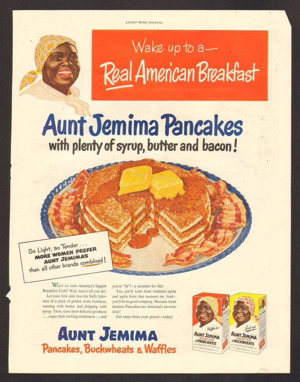 1950 print advertisement aunt jemima pancakes buckwheats waffles 1950 print advertisement aunt jemima pancakes buckwheats waffles real breakfast ccuart Images