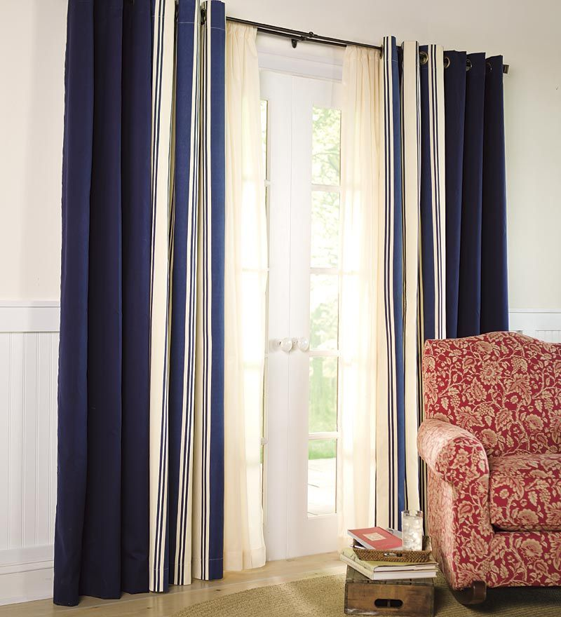Thermalogic Wide Stripe Grommet Top Insulated Curtains