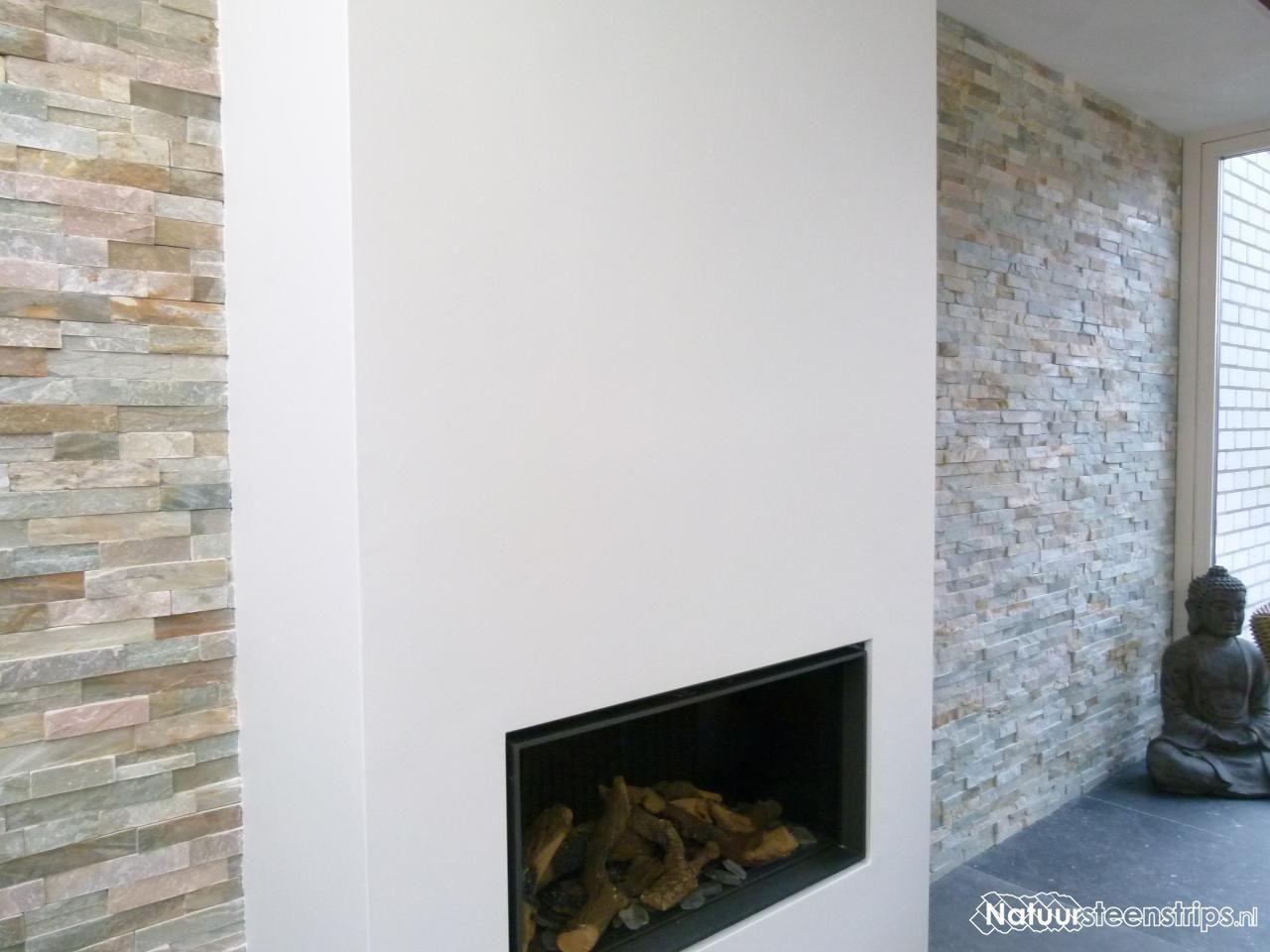 Natuursteen Strips Badkamer : Natuursteenstrips goud kwartsiet. sfeervolle wandbekleding met een
