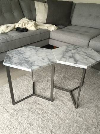 West Elm Marble Coffee Table  Craigslist Crushes  Pinterest Endearing Craigslist Nj Dining Room Set Inspiration