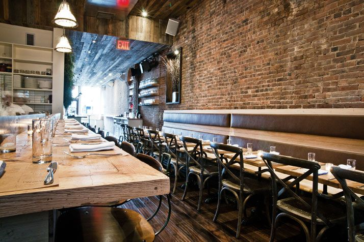 Colonie restaurant, recently opened in Brooklyn Heights, is a fantastic example of a rehabilitated space that joins creativity and vision to materials that once had a life as something else entirely
