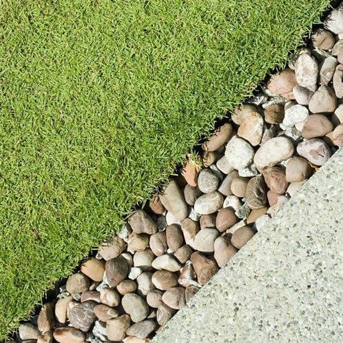 High Quality 4 Pebble Border Garden Edging Strips Stone Landscape Paths Step Stones  Feature
